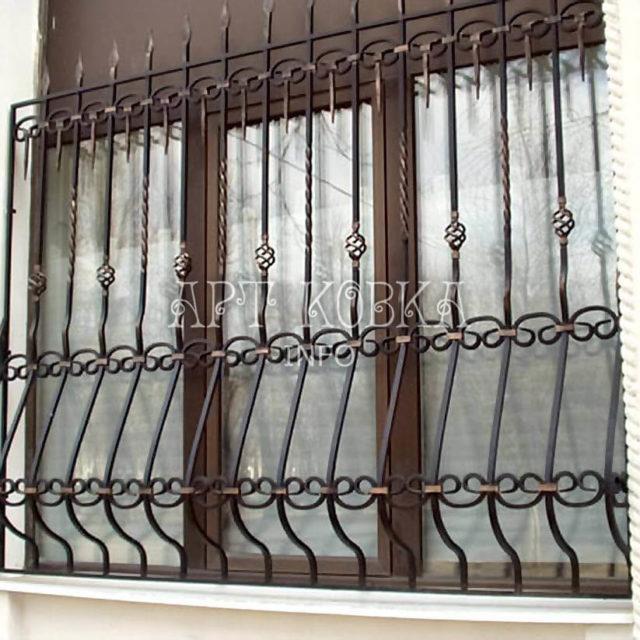Кованые решетки на окна Арлесса