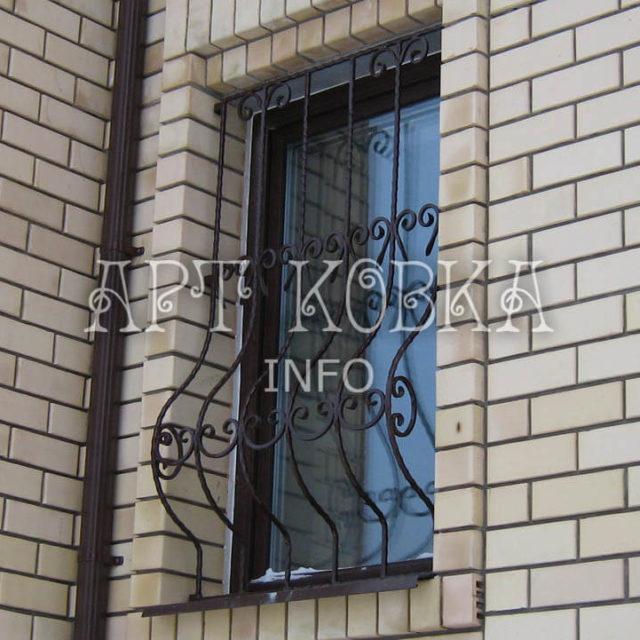 Кованые решетки на окна Суржен