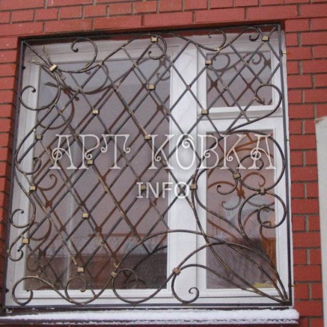 Кованые решетки на окна Фаира