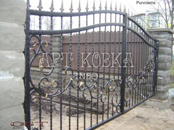 Простые кованые ворота Анрика