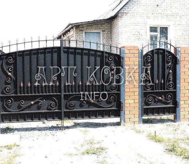 Кованые ворота Лурис