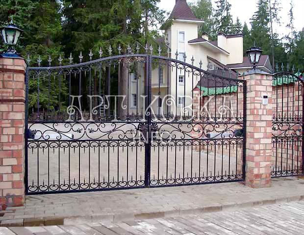 Кованые ворота Франц