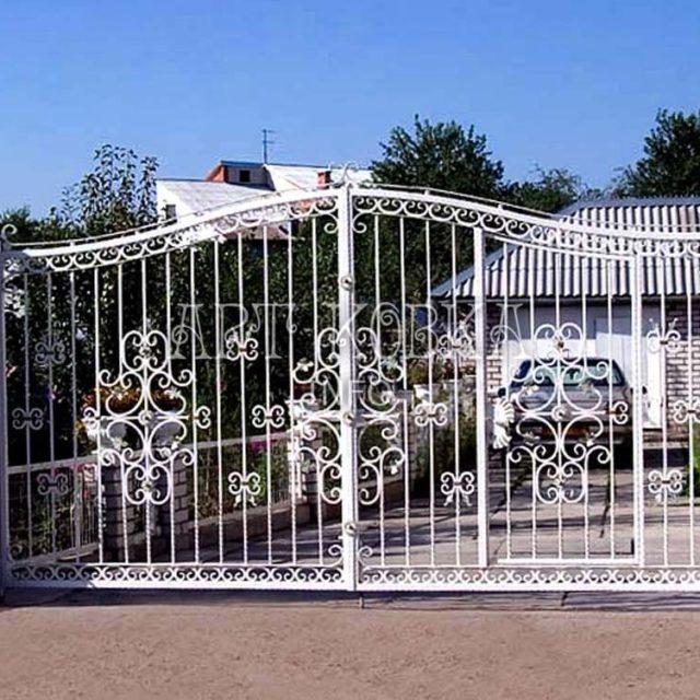 Кованые ворота Этиль