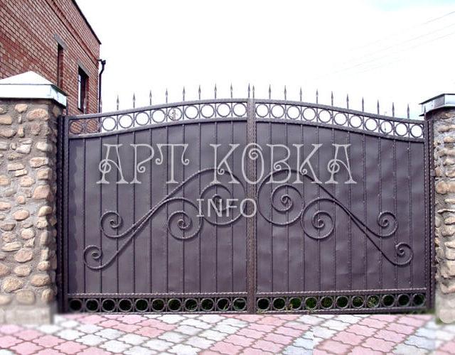 Сварные ворота Турен