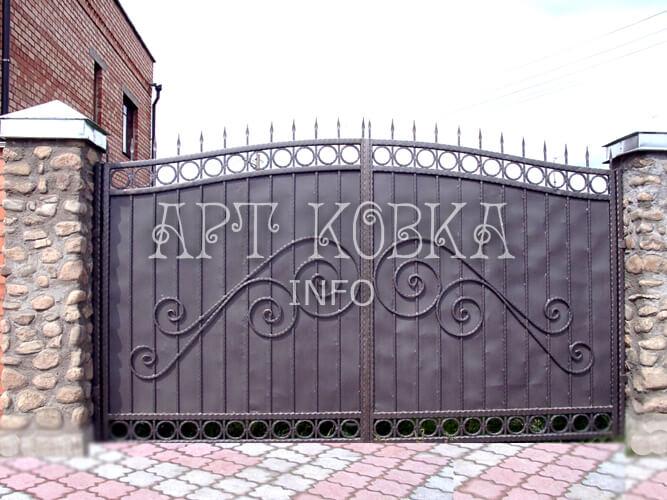 Большие сварные ворота Турен