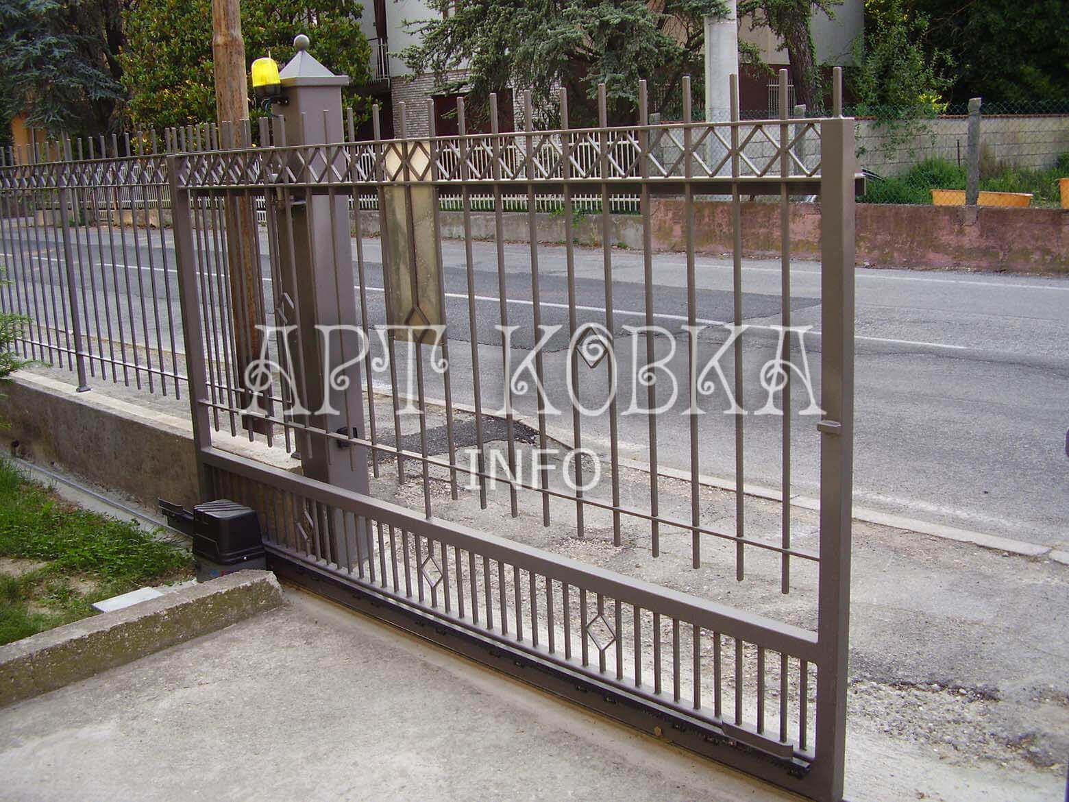 Окатные сварные ворота София