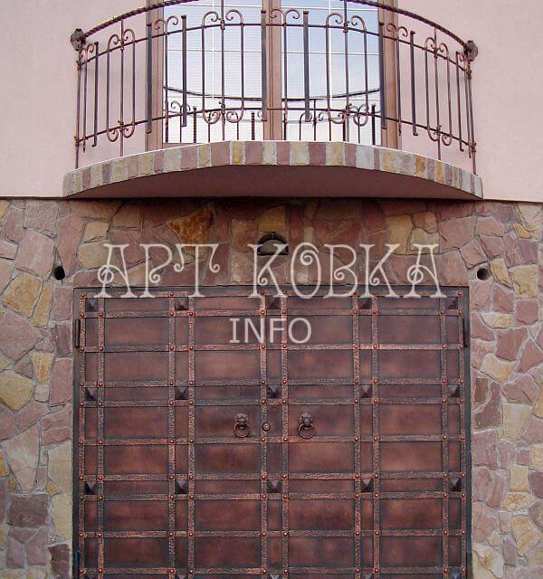 Кованые ворота Форпост