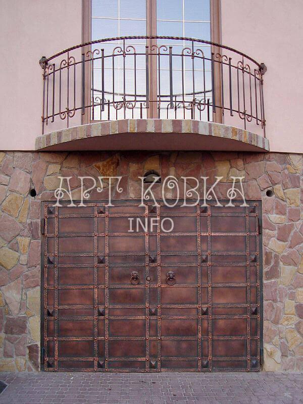 Кованые ворота для дома Форпост