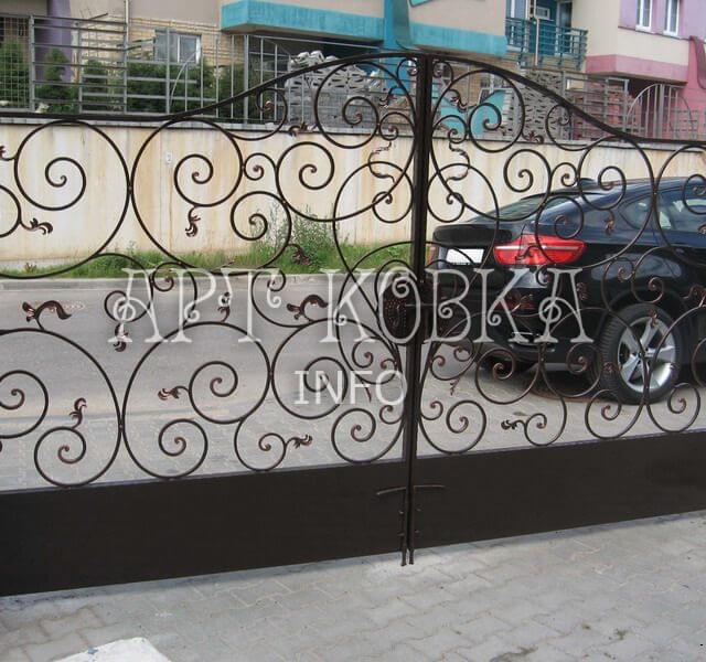 Кованые ворота Арлета
