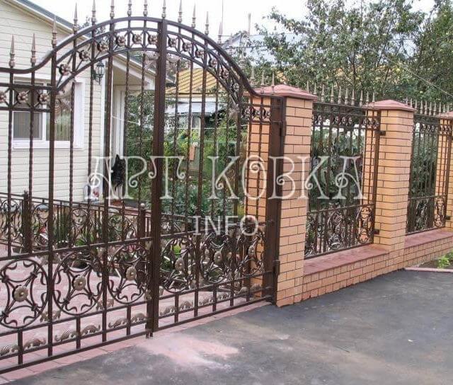 Кованые ворота Цирсен
