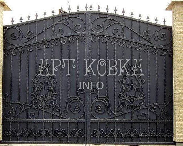 Кованые ворота Монохром