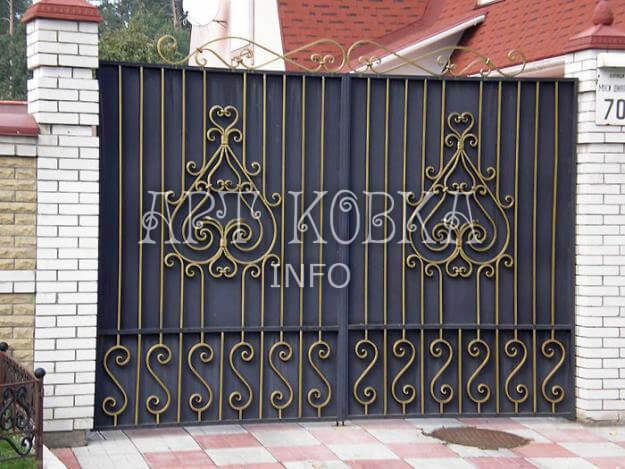 Кованые ворота Рутьен