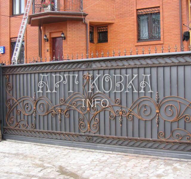 Кованые ворота Амелия