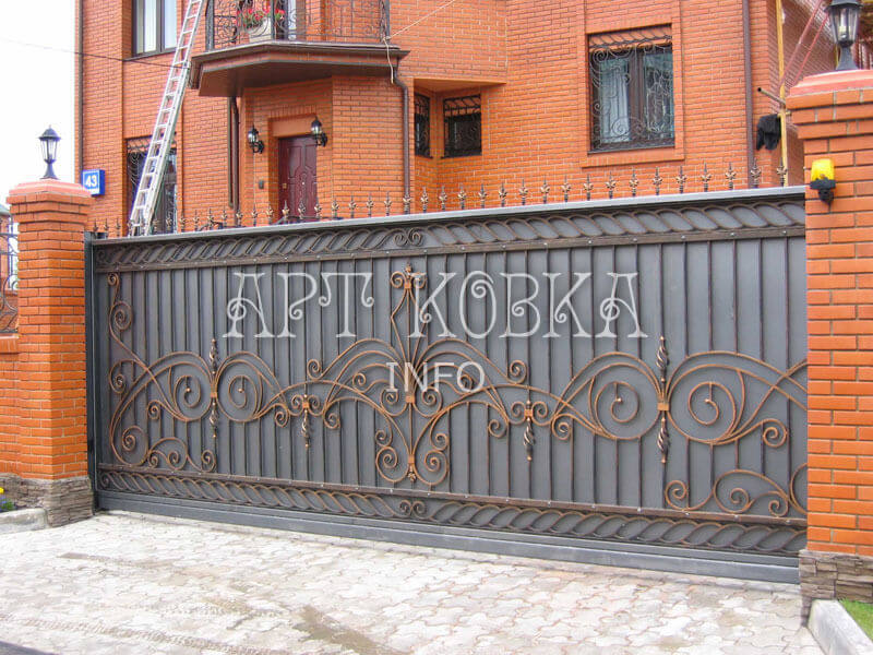Кованые ворота для дачи Амелия