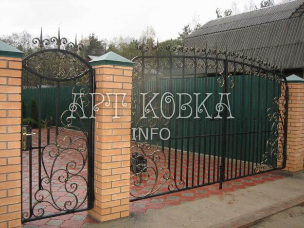 Кованые ворота Арлиса