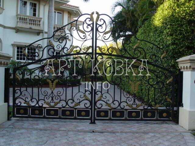 Кованые ворота Жасмин