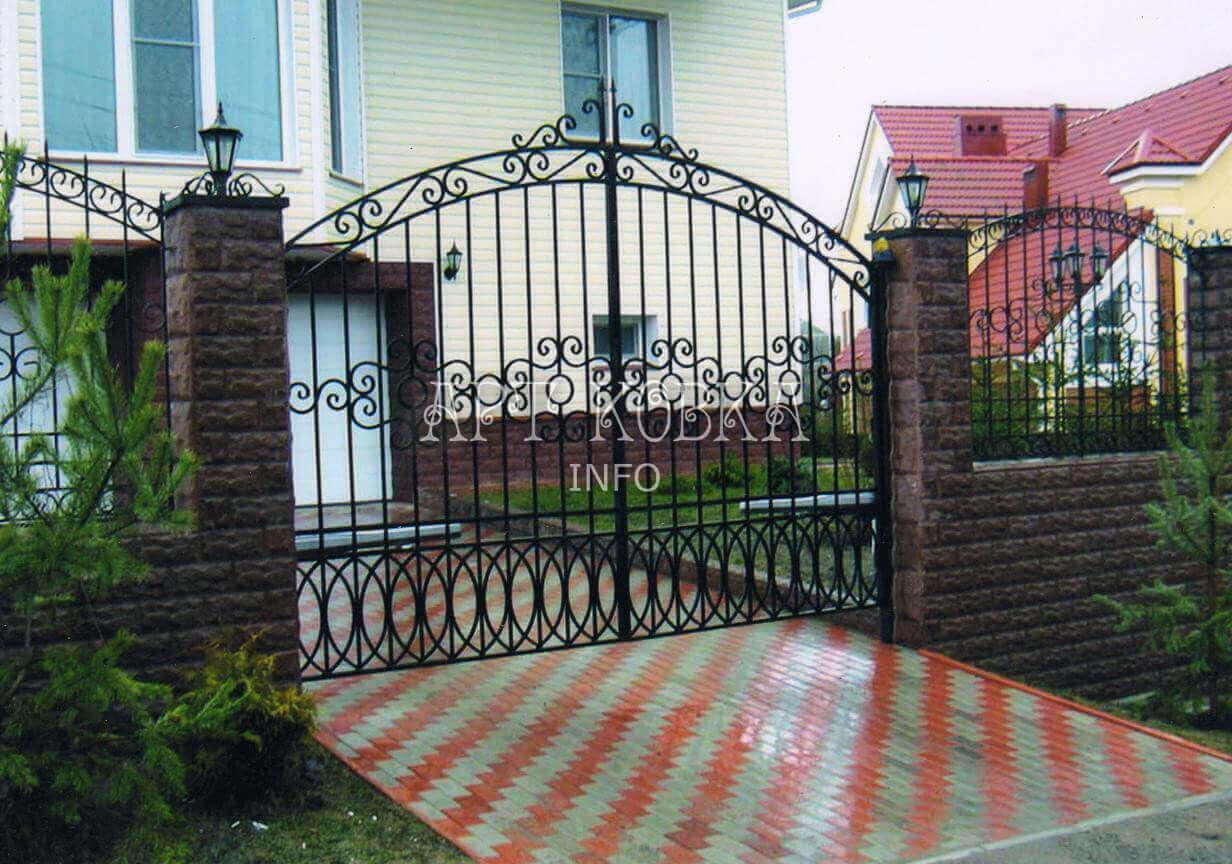 Роскошные, распашные сварные ворота Сиэла