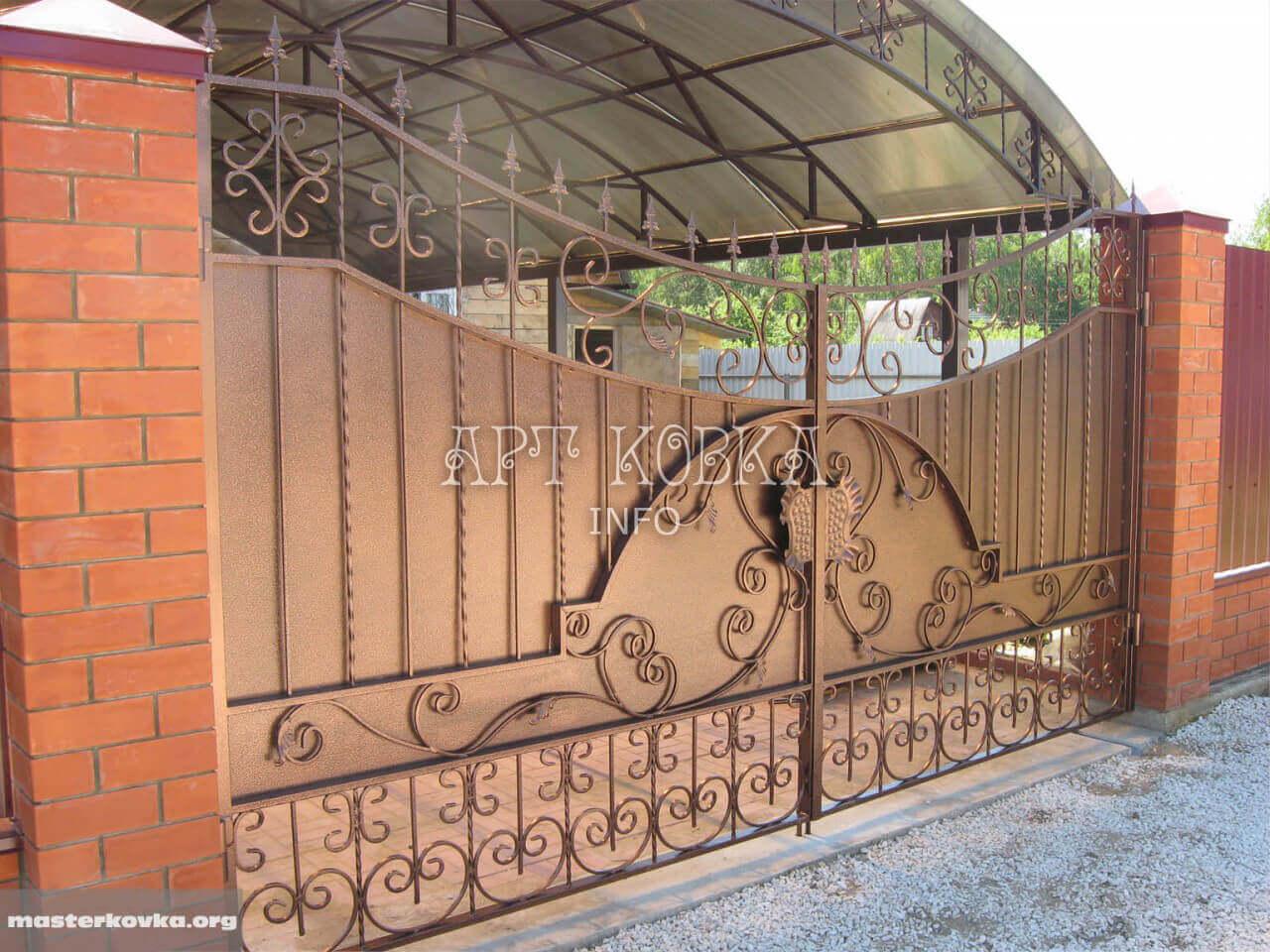 Оригинальные кованые ворота Рамиро