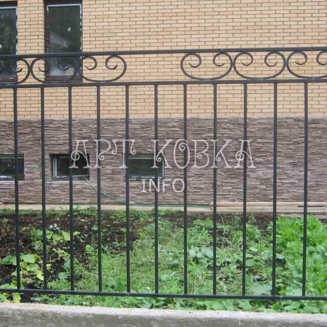 Кованый забор Корнет