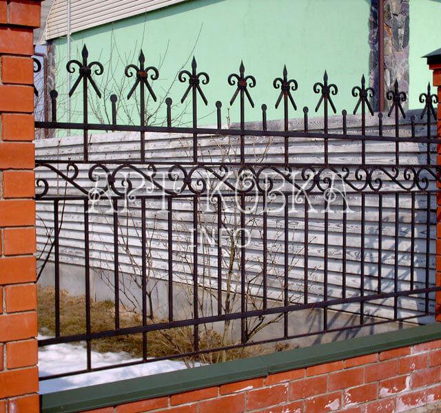Кованый забор Франт