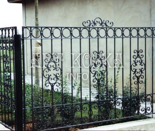 Кованый забор Фиола