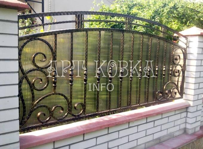 Кованый забор Лераск для частного дома