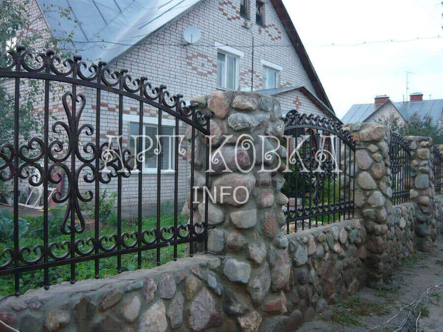 Кованый забор Сиория для частного дома