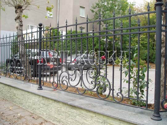 Кованый забор Варноль