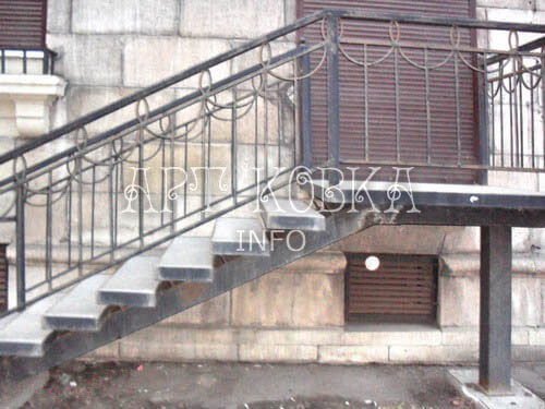 Кованая лестница Форс